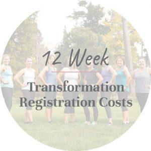 12 Week Transformation Online Registration Costs